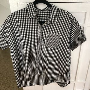 NWT Madewell short sleeve button down